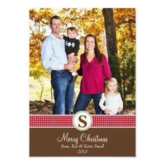 クリスマスの写真 12.7 X 17.8 インビテーションカード