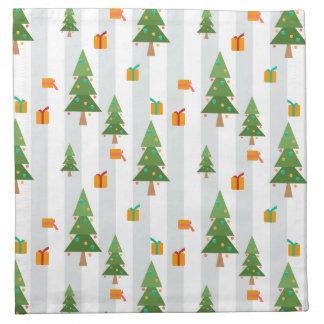 クリスマスの冬パターン2 ナプキンクロス