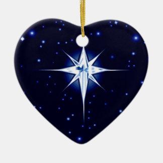 クリスマスの出生の星 セラミックオーナメント