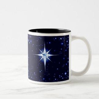クリスマスの出生の星 ツートーンマグカップ