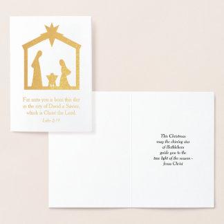 クリスマスの出生キリスト教の宗教イエス・キリスト 箔カード