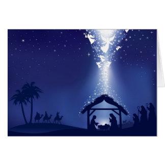 クリスマスの出生 カード