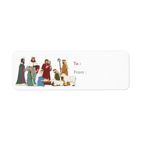クリスマスの出生 返信用宛名ラベル