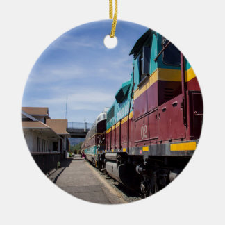 クリスマスの列車 セラミックオーナメント