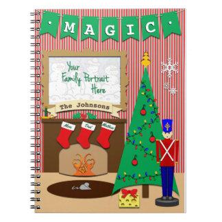 クリスマスの前の魔法夜 • 3つのストッキング ノートブック