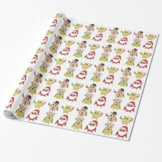 クリスマスの包装紙のクリスマスのギフト包むこと ラッピングペーパー