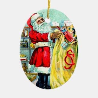 クリスマスの十分の袋 セラミックオーナメント