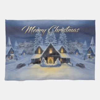 クリスマスの台所タオル キッチンタオル