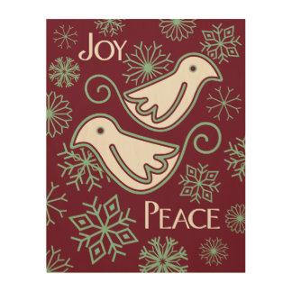 クリスマスの喜びおよびハト派議員の木製の壁の芸術 ウッドウォールアート