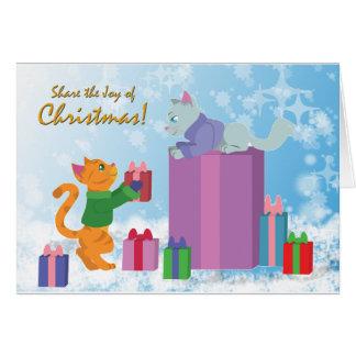 クリスマスの喜びを共有して下さい! カード