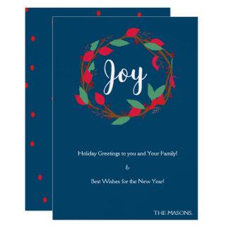 クリスマスの喜びカード カード