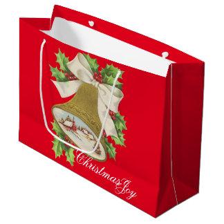 クリスマスの喜び ラージペーパーバッグ