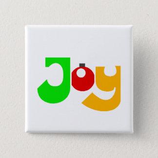 クリスマスの喜び 5.1CM 正方形バッジ