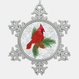 クリスマスの基本的なピューターの雪片のオーナメント スノーフレークピューターオーナメント