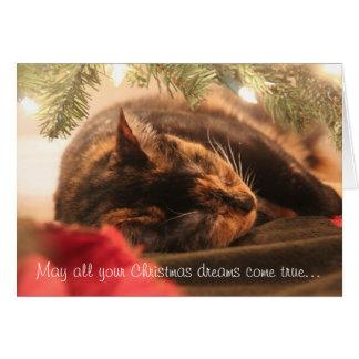 クリスマスの夢、睡眠のさらさは、個人化なります カード