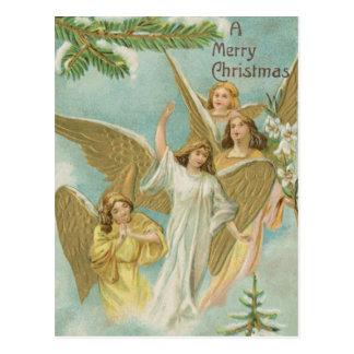クリスマスの天使のヴィンテージのグループ ポストカード