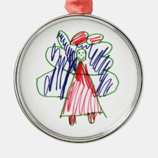 クリスマスの天使1 メタルオーナメント