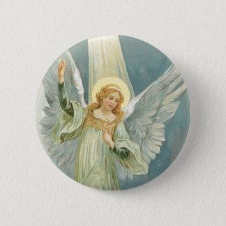 クリスマスの天使 5.7CM 丸型バッジ