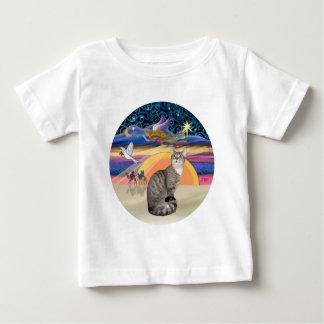 クリスマスの天使- (b)虎猫猫 ベビーTシャツ