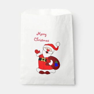 クリスマスの好意のバッグか振るサンタ フェイバーバッグ