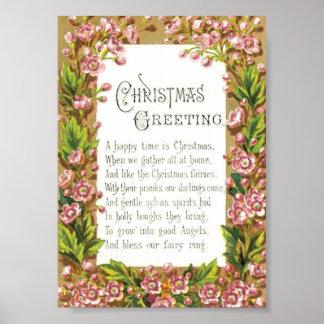 クリスマスの妖精の挨拶 ポスター