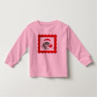 クリスマスの子ネコ トドラーTシャツ