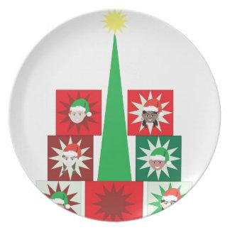 クリスマスの子供の現在の木 プレート