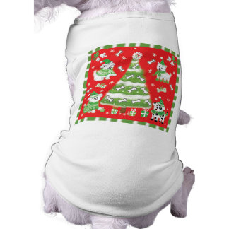 クリスマスの子犬のパーティー犬のTシャツ ペット服