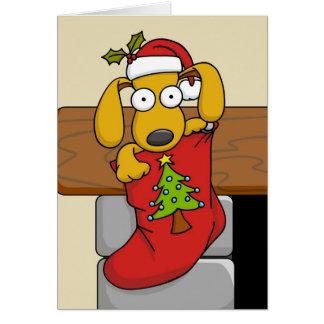 クリスマスの子犬2 カード