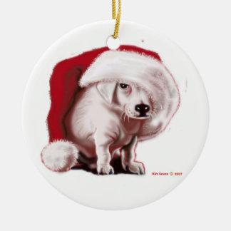 クリスマスの子犬-オーナメント セラミックオーナメント