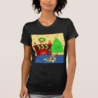 クリスマスの子犬 Tシャツ