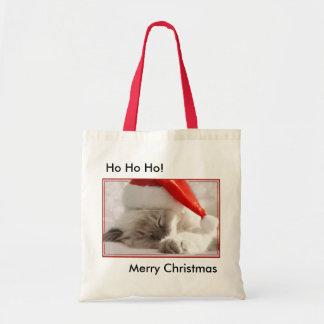 クリスマスの子猫のバッグ トートバッグ
