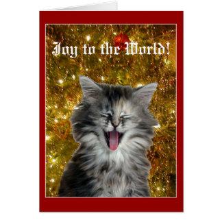 クリスマスの子猫は嬉しい騒音の挨拶状を作ります グリーティングカード