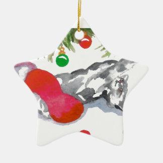 クリスマスの子猫猫の木の装飾の休日のおもしろい セラミックオーナメント