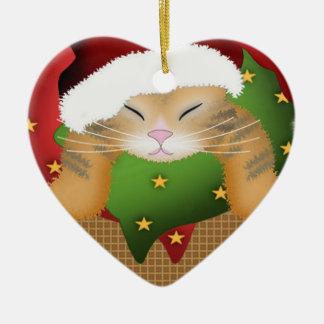 クリスマスの子猫 セラミックオーナメント