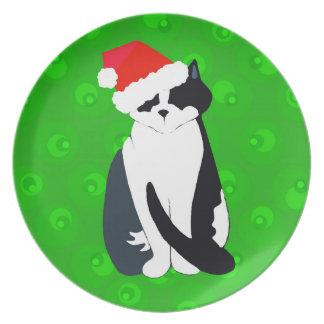 クリスマスの子猫 プレート
