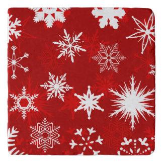 クリスマスの季節の雪片 トリベット