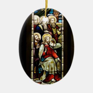 クリスマスの宗教場面 セラミックオーナメント