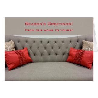クリスマスの家あなたのへの私達のもの グリーティングカード