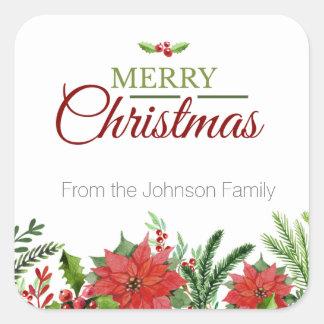 クリスマスの封筒のシーラーの型板 スクエアシール