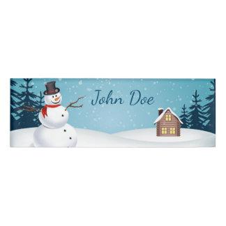 クリスマスの小さい長方形の名札 名札