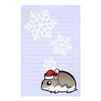 クリスマスの小型ハムスター 便箋