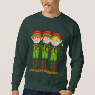 クリスマスの小妖精や小人の休日メンズTシャツ スウェットシャツ