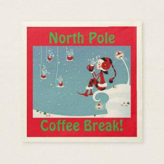 クリスマスの小妖精や小人の北極の休憩のナプキン スタンダードカクテルナプキン