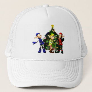 クリスマスの小妖精や小人の帽子 キャップ