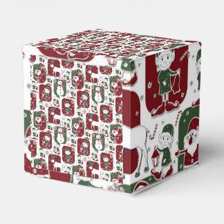 クリスマスの小妖精や小人及び雪だるま フェイバーボックス