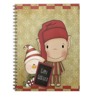 クリスマスの小妖精や小人 ノートブック