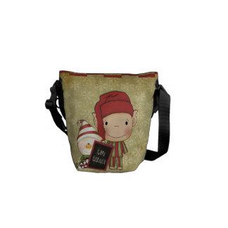 クリスマスの小妖精や小人 メッセンジャーバッグ
