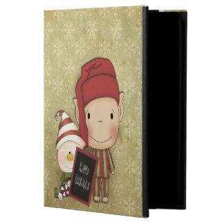 クリスマスの小妖精や小人 iPad AIRケース