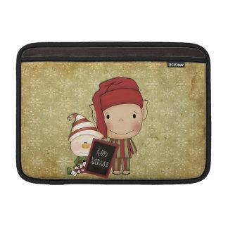 クリスマスの小妖精や小人 MacBook スリーブ